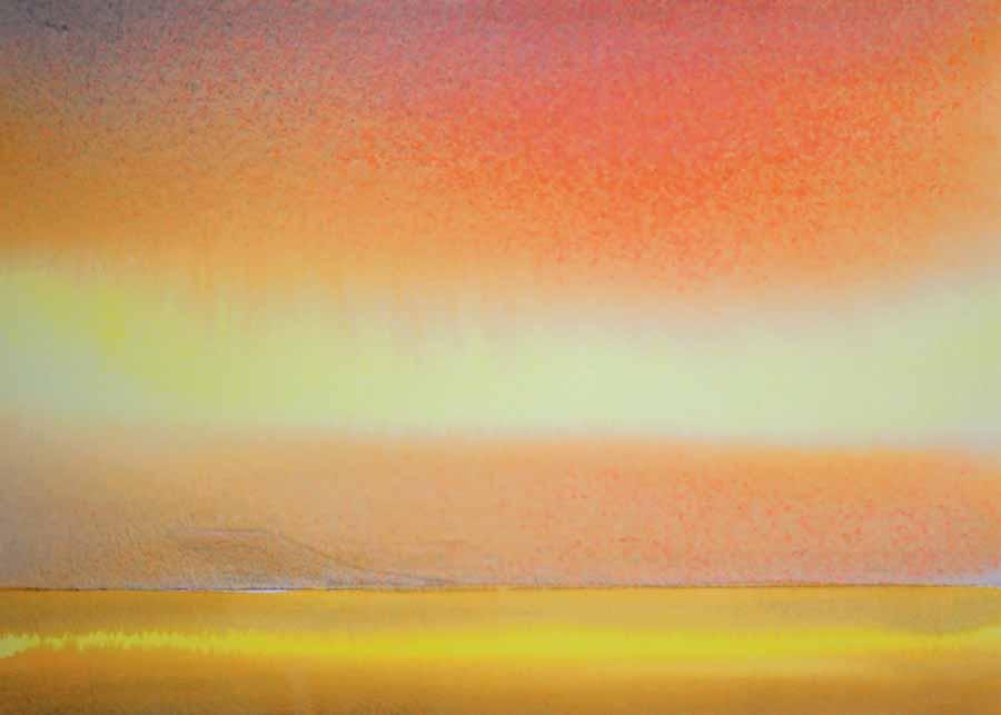 Orange Sunset by Paul Clarke