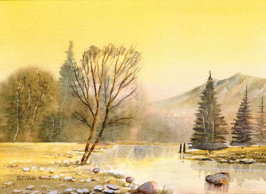 River In Flood by Paul Clarke